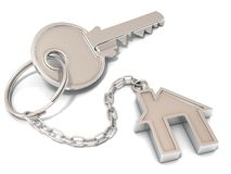 House door key and house key-chain Stock Images