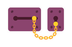 House door lock access equipment icon vector safety password privacy element with key and padlock protection security Royalty Free Stock Photography