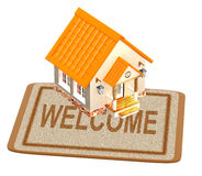 House and doormat Royalty Free Stock Photo