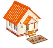 House and doormat Stock Photos