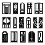 House Doors Black Design Collection Royalty Free Stock Images