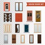 House Doors Transparent Set Stock Photo