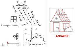 House - dot game. Stock Image