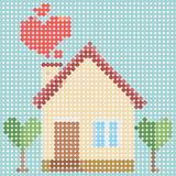 House dot pattern Royalty Free Stock Image