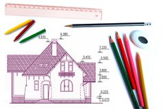 House draft Stock Photography