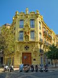 House of the Dragons in Valencia, Spain. VALENCIA, SPAIN - SEPTEMBER 01, 2018: Casa de los Dragones (House of the Dragons), built in 1901 in city royalty free stock images