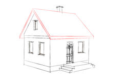 House drawing. On white background Stock Photo