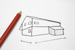 House Drawing Royalty Free Stock Photography