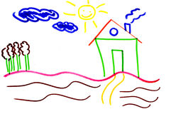 House drawing Royalty Free Stock Images