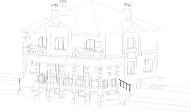 House drawing Stock Image