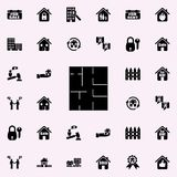 House drawing icon. Real estate icons universal set for web and mobile. On dark gradient background royalty free illustration