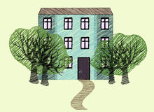 House drawing imitation Royalty Free Stock Photography