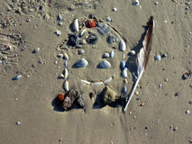 House drawing in the sand 4 Royalty Free Stock Photos