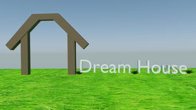 House dream Concept Stock Image
