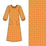 House dress, nightdress front view Stock Photo