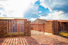 House with driveway gate, Soweto Royalty Free Stock Photos