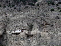 House on a Dry Himalayan Mountain Royalty Free Stock Photo