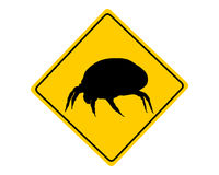 House dust mite warning sign Royalty Free Stock Photography