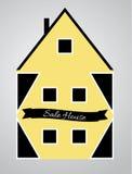 House. Dwelling property estate suburban Stock Photography