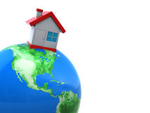 House on earth Stock Photo