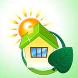 House Eco Means Earth Friendly And Building Royalty Free Stock Photography