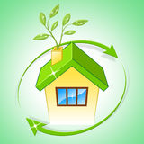 House Eco Means Go Green And Conservation Royalty Free Stock Photo