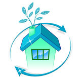 House Eco Represents Go Green And Building Stock Photography