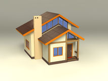 House with ecological architecture Stock Photos