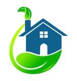 House ecological logo vector Royalty Free Stock Photography