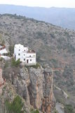 House on the edge of the cliff. Beautiful Moroccan style house built on the very edge of the cliff Stock Images