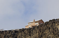 House On Edge of Cliffs Royalty Free Stock Image