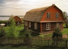 House on the edge of lakes Stock Photo