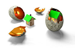 House in egg of the banknotes Royalty Free Stock Photography