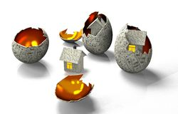 House in egg of the banknotes Royalty Free Stock Photos