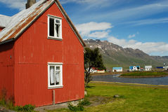 House in Egilstadir, east Iceland Royalty Free Stock Image