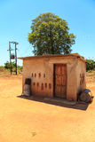 House with electricity in a village in Africa Royalty Free Stock Image