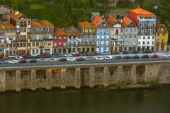 House on the embankment of Douro river, Porto Stock Photos