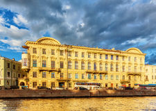 House on the embankment of Fontanka River Stock Photography