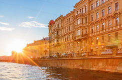 The house on the embankment of Griboyedov Canal Stock Photos