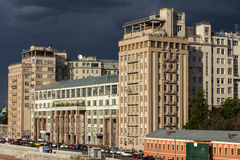 The House on the Embankment with the Moscow State Estrada Theatre Royalty Free Stock Photos