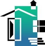 House emblem. Isolated line art emblem design of house Stock Photo