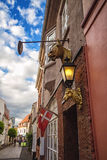 House with emblem of the city Horsens Stock Images