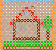 House, embroidered cross Stock Images