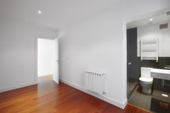 House empty room with bathroom entrance Stock Images