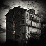 The house at the end of the road Royalty Free Stock Images