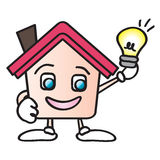 House energy cartoon vector illustration