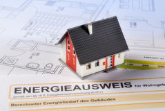 House and energy certificate Royalty Free Stock Photos