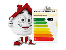 House with an energy certificate Royalty Free Stock Images
