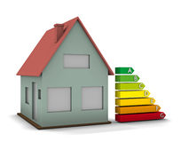 House and Energy chart Royalty Free Stock Photos