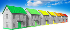 House energy efficiency concept Stock Images